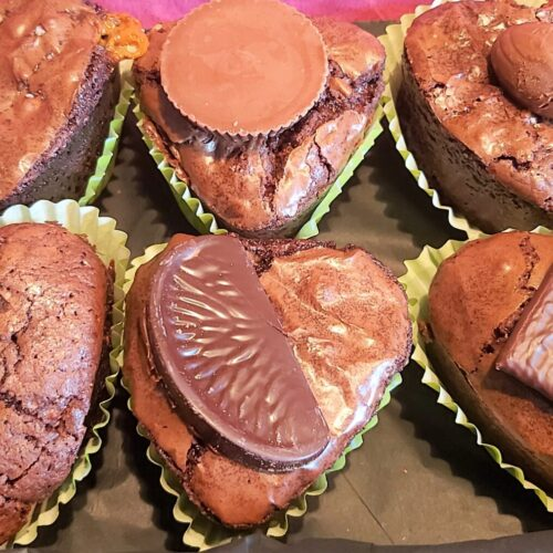 Individual Brownie Hearts
