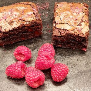 Brownie Slice Raspberry